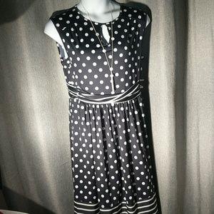 Blue Angels white polka dot dress
